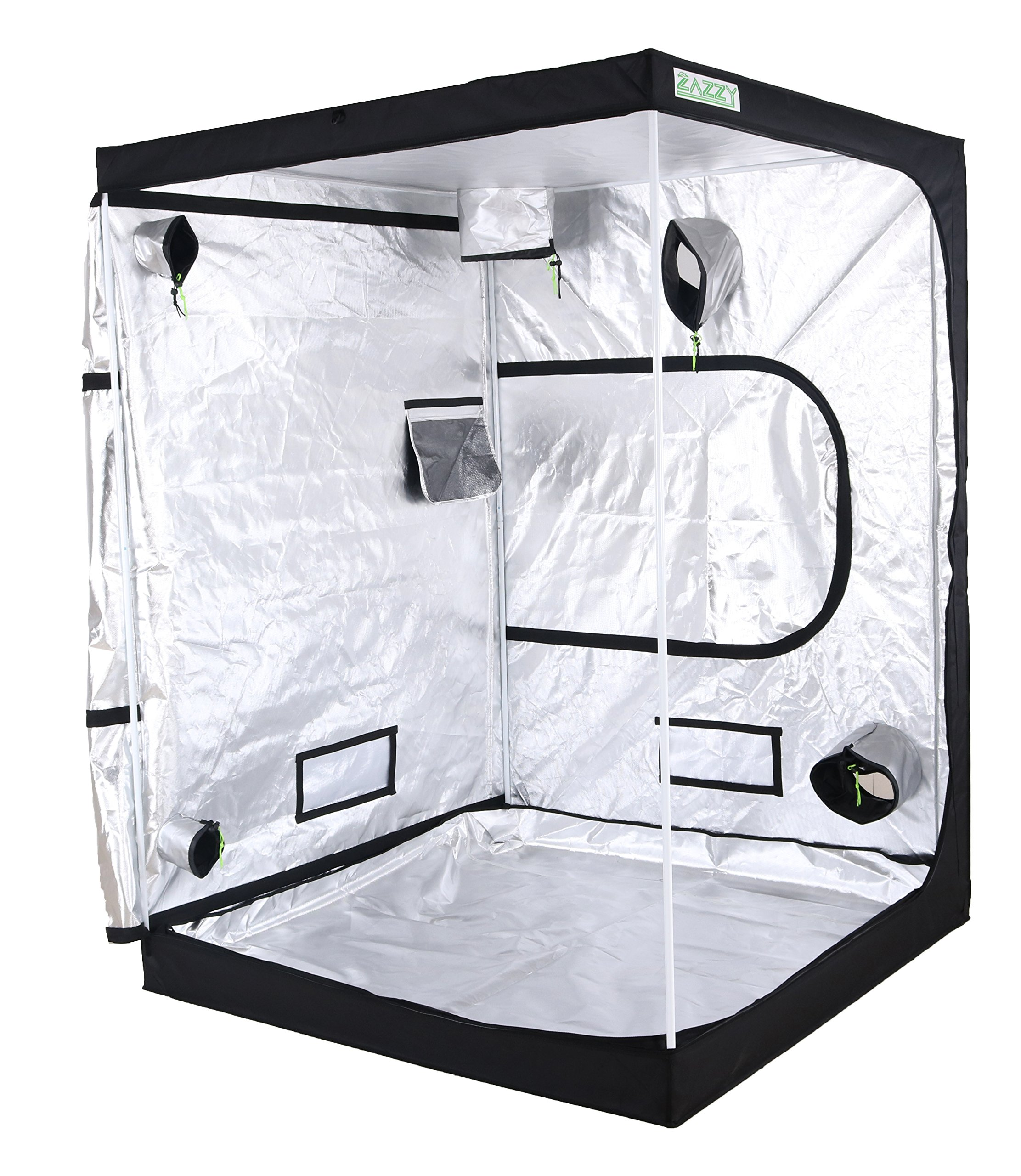 Zazzy 60''x60''x80'' Plant Growing Tents 600D Mylar Hydroponic Indoor Grow Tent for Plant Growing