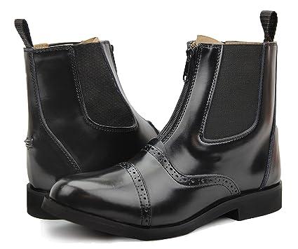 bfce7beb77f Hispar Ladies English Horse Riding Lightweight Leather Glory Zipped Paddock  Boots