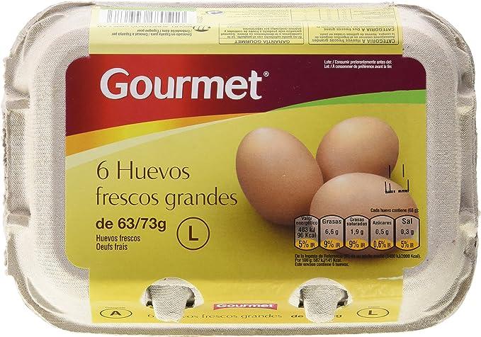 Gourmet - Huevos Frescos, tamaño L, 63-73 g (6 unidades ...