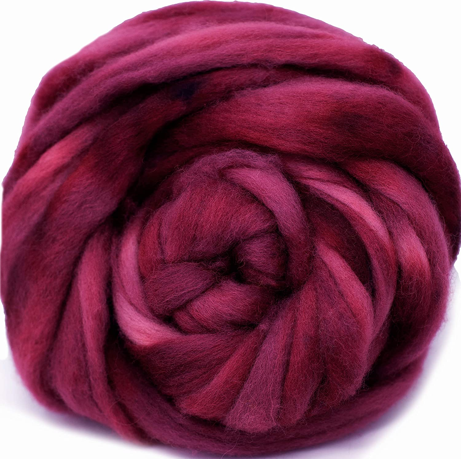Weaving Wall Hangings and Embellishments 1 Ounce Wool Roving Hand Dyed Super Soft BFL Combed Top Pre-Drafted for Easy Hand Spinning Artisanal Craft Fiber ideal for Felting Woodrose