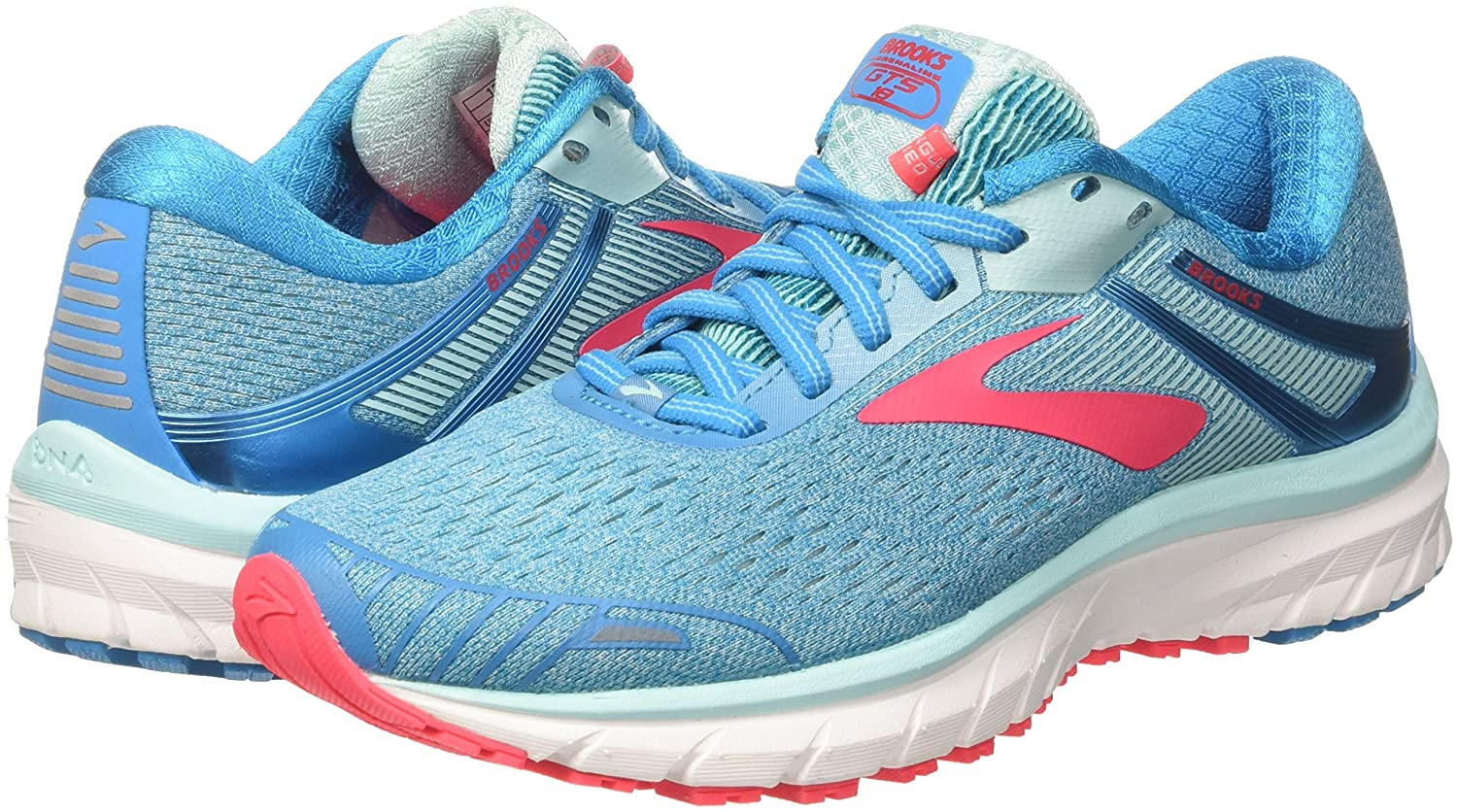 Brooks Womens 11.5 Adrenaline GTS 18 B071NSPF4P 11.5 Womens B(M) US|Blue/Mint/Pink df45ff