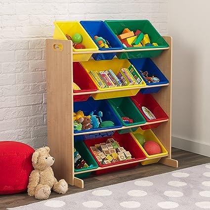 amazoncom kidkraft sort it and store it bin unit espresso toys u0026 games