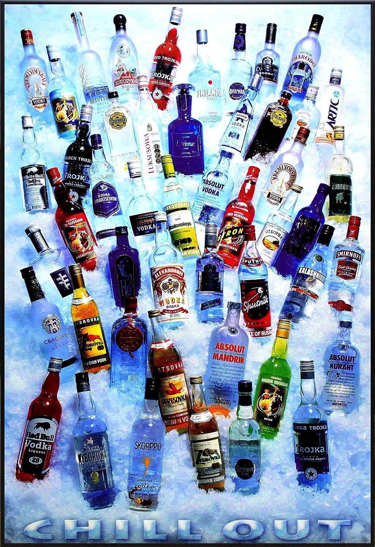 アートショップ フォームス 「ジン/ウォッカ/酒瓶/Chill Out」アートポスター 大サイズ B01AVY8FQA