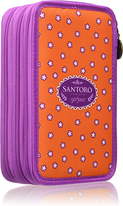 SANTORO GORJUSS Plumier Triple, Monedero Unisex Infantil, Naranja (Naranja), 7x13x21 cm (W x H x L): Amazon.es: Zapatos y complementos