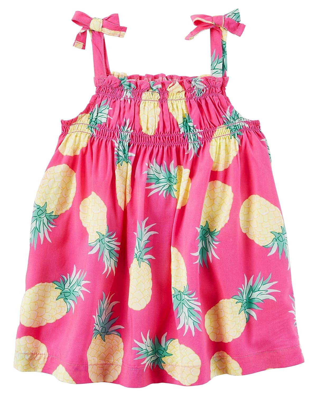 Pink Carters Girls Pineapple Tie Tank 5T