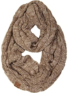 0b4ca143f Funky Junque's Beanies Matching Ribbed Winter Warm Cable Knit Infinity Scarf