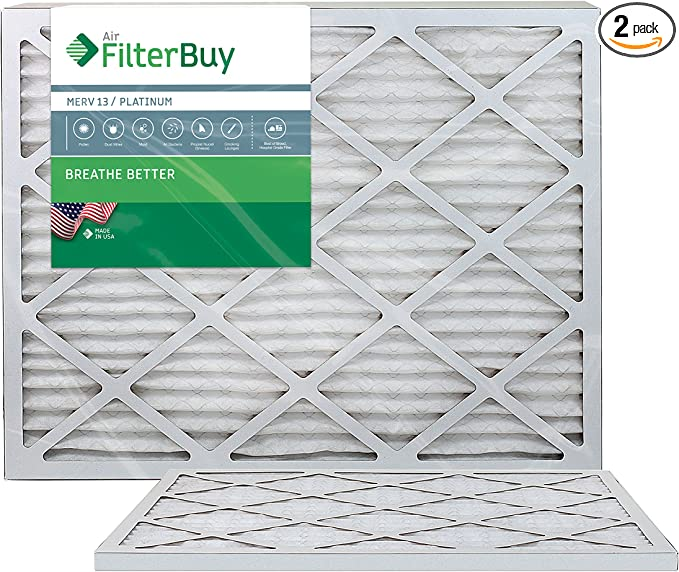 Nordic Pure 12x36x1 Exact MERV 13 Pleated AC Furnace Air Filters 6 Pack