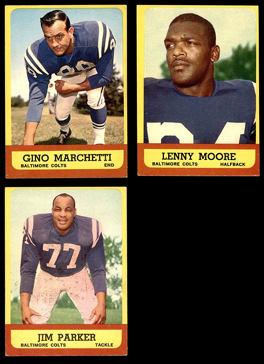 1963 Topps Baltimore Colts Team Set Baltimore Colts (Baseball Set) Dean's Cards 6 - EX/MT Colts
