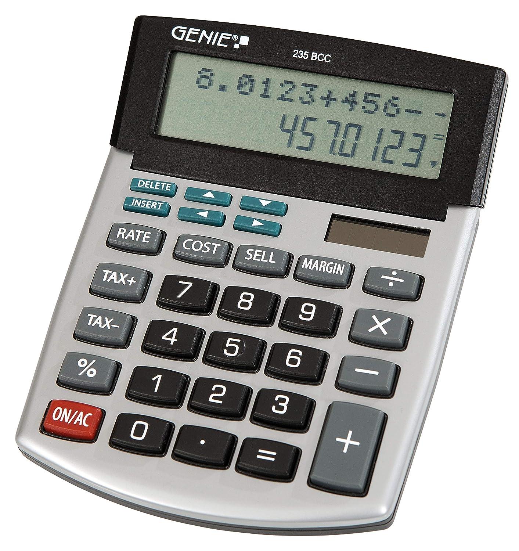Genie 235 BCC 12桁ビジネス電卓(デュアルパワー(ソーラーとバッテリー) - 処理) - ライトシルバー/グレー   B0758NLCG7
