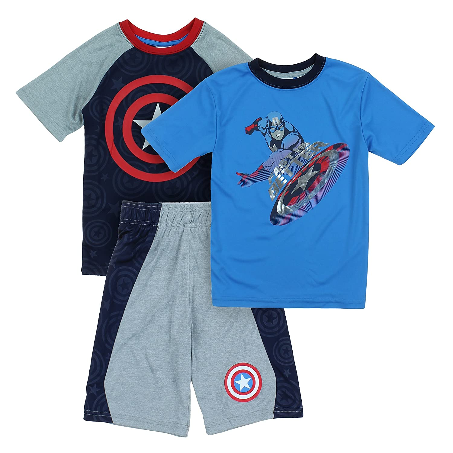 Marvel Spider-Man Little Boys 3 pc Athletic T Shirt & Shorts Set