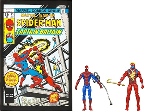 Marvel Universe Spider-Man and Captain Britain Figure Comic Pack 4 ...