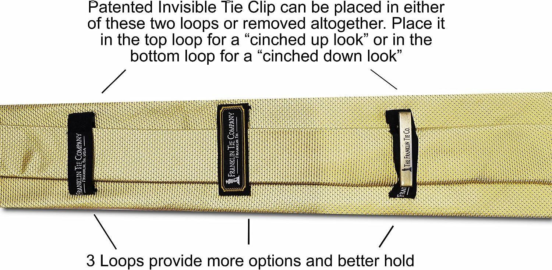 Corbata de nudo grande - Amarillo Sólido - 7 pliegues - Siete ...