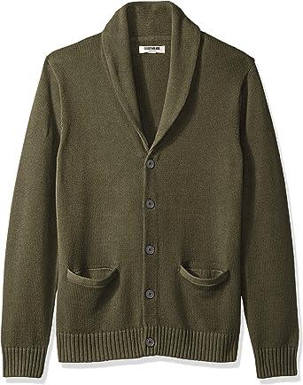 Goodthreads Soft Cotton Shawl Cardigan Sweater Sudadera, Verde (Solid Olive OLI), XXXXXX-Large: Amazon.es: Ropa y accesorios