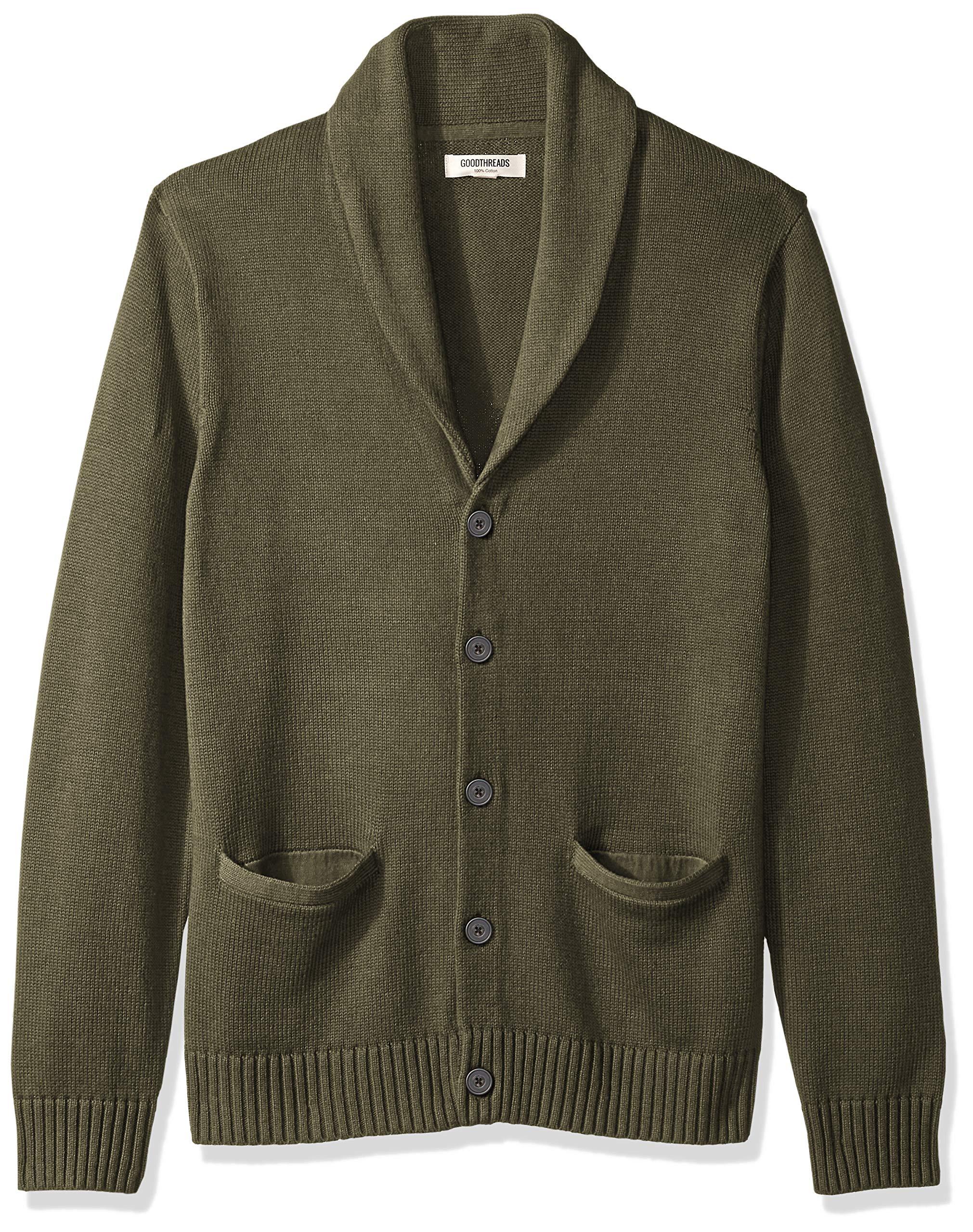 Amazon Brand – Goodthreads Men's Soft Cotton Shawl Cardigan Sweater