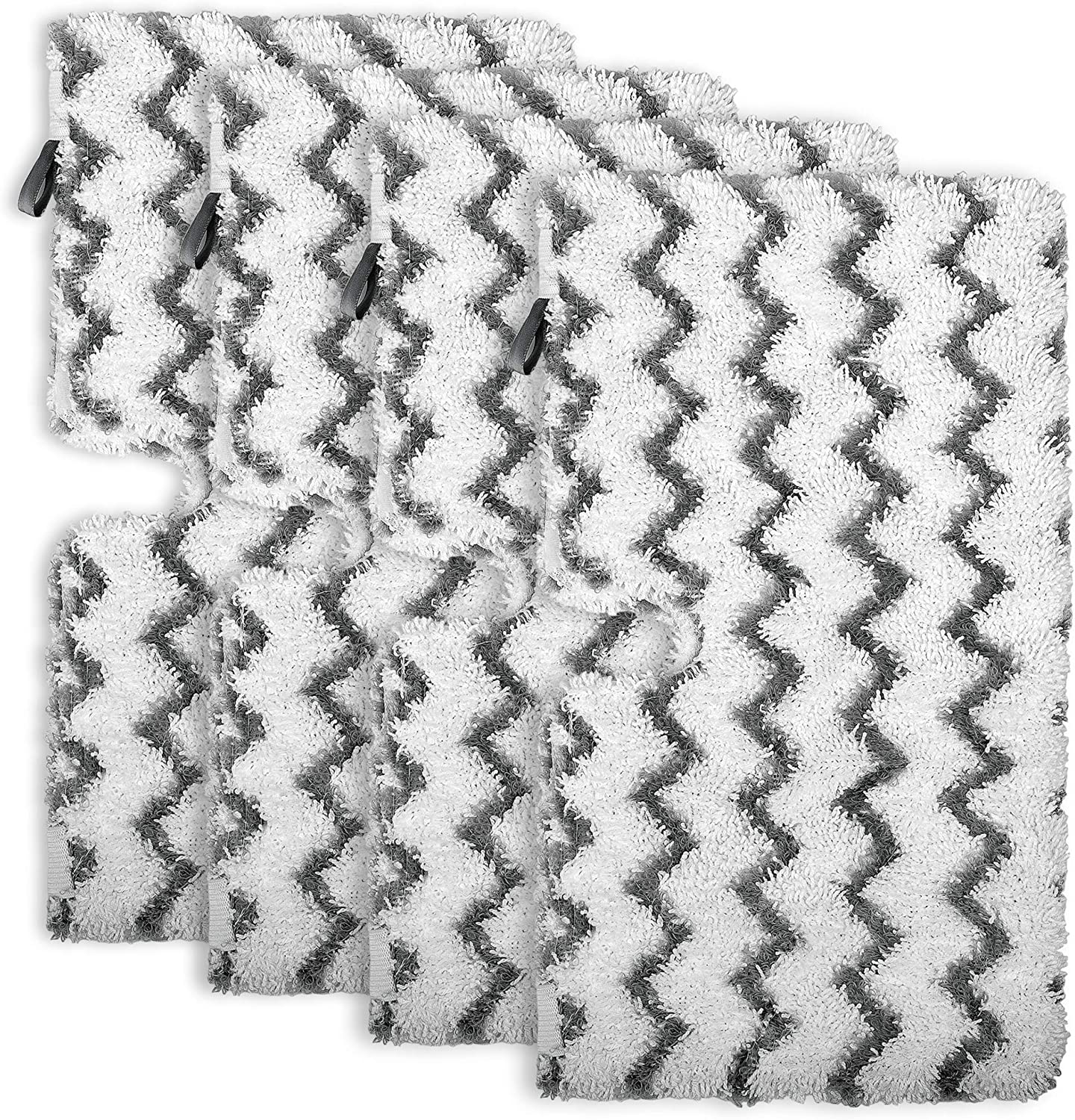 Flammi 4 Pack Replacement Steam Mop Pads Microfiber Scrub Pad for Shark Steam Pocket Mop S3500 Series S3501 S3601 S3550 S3801 S3901 SE450 S3601D S3901D