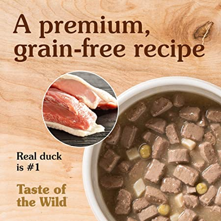 Taste Of The Wild Wetlands Grain-Free canned Dog Food (12/13.2oz Cans) by Taste of the Wild: Amazon.es: Productos para mascotas