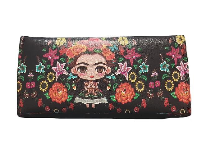 Frida Kahlo - 100% funda de piel tamaño mediano para mujer tipo cartera: Amazon.es: Bricolaje y herramientas