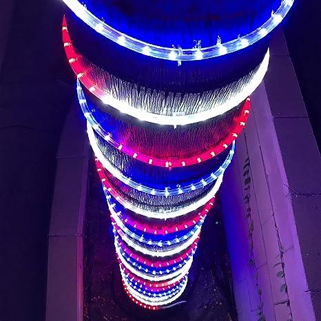 newest ffa1e 49be7 Amazon.com: Christmas Lights Patriot Decor LED 200' Rope ...