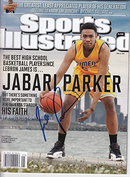 new concept cece6 99434 JABARI PARKER signed (SPORTS ILLUSTRATED) magazine SIMEON ...