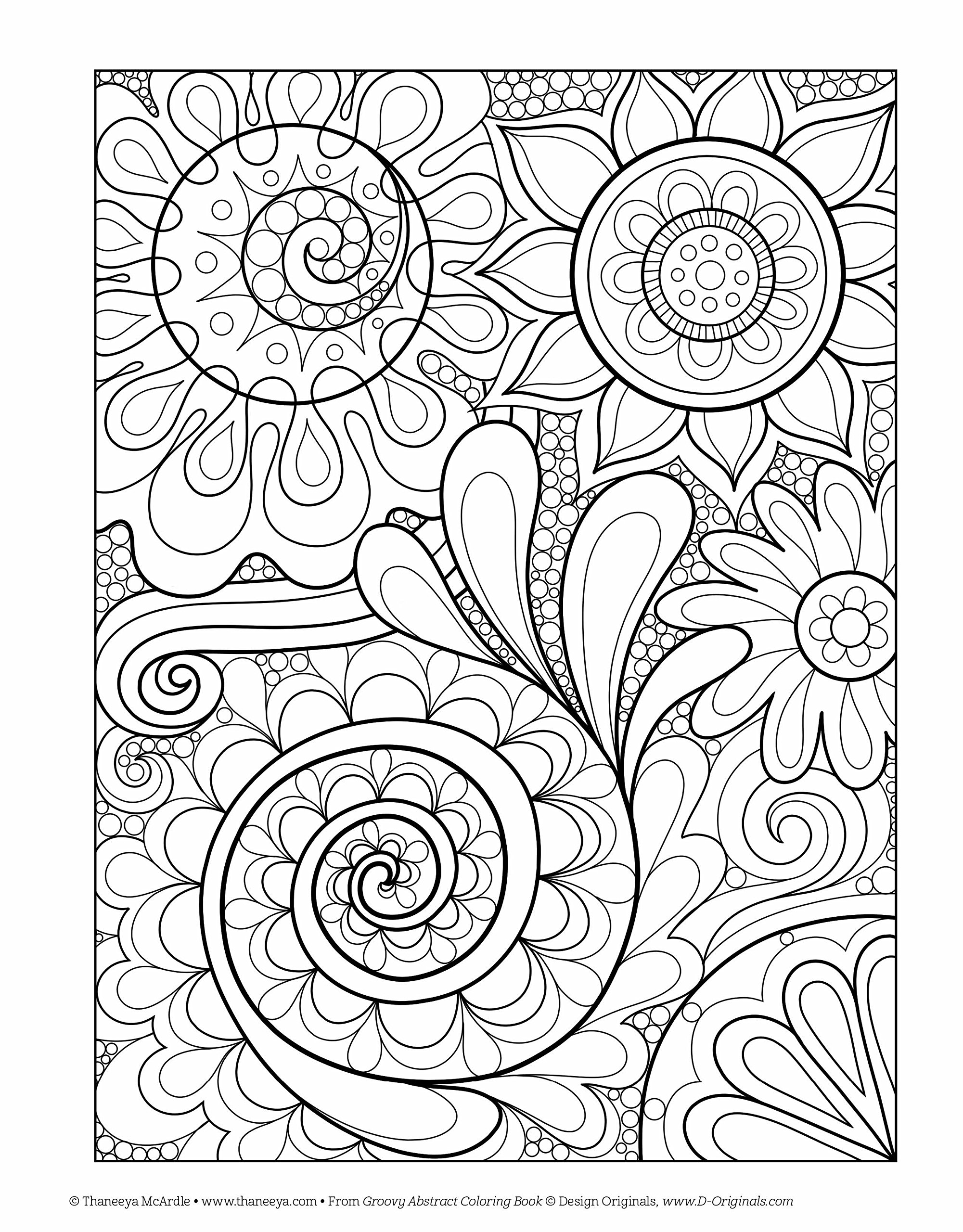 Groovy Abstract Coloring Book Design Originals Is Fun Thaneeya McArdle 9781574219623 Amazon Books