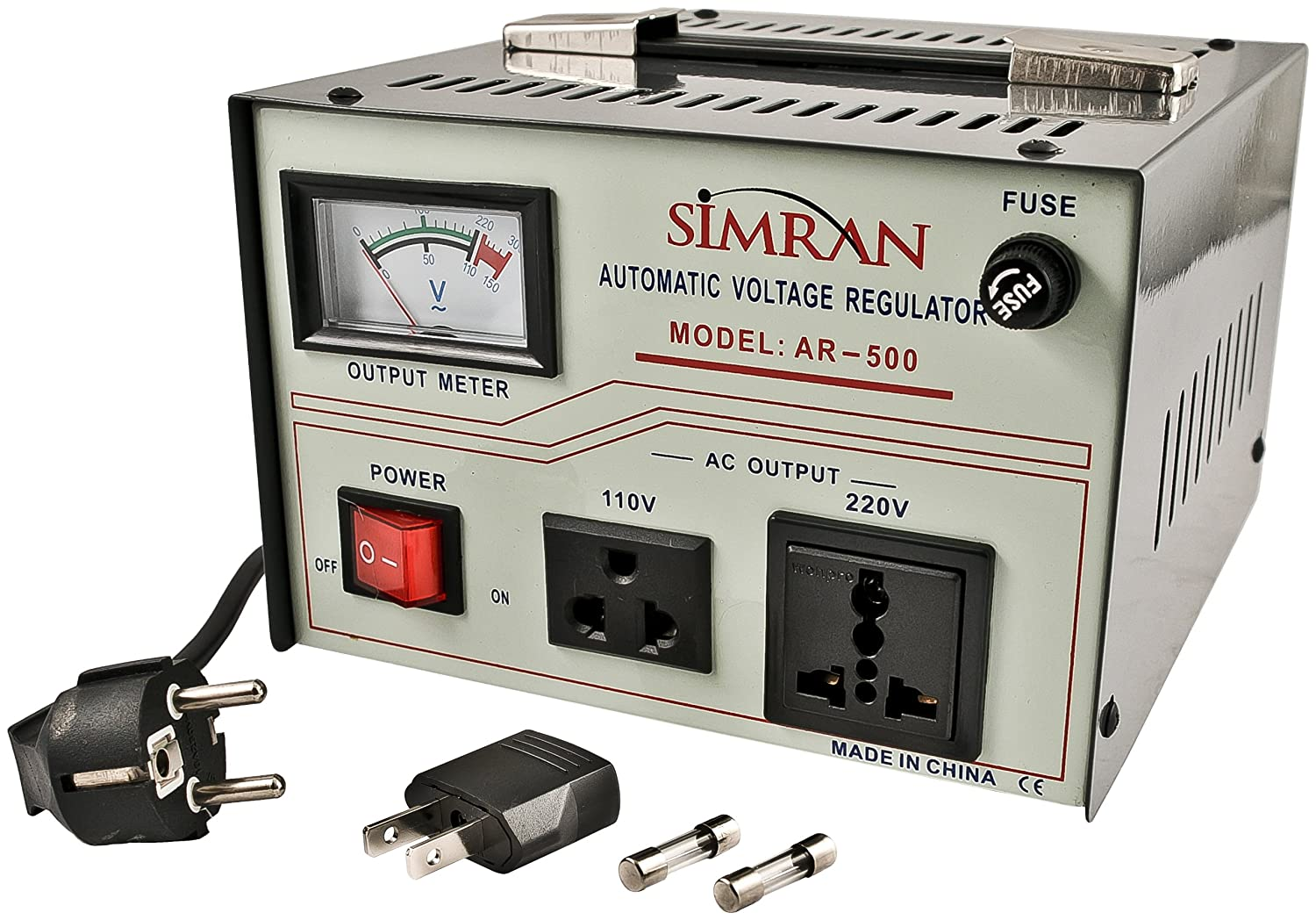 Simran Ar 3000 Power Converter Regulator Stabilizer Basic Of Automatic Voltage Electrical Engineering Centre Transformer Watt Grey Home Improvement