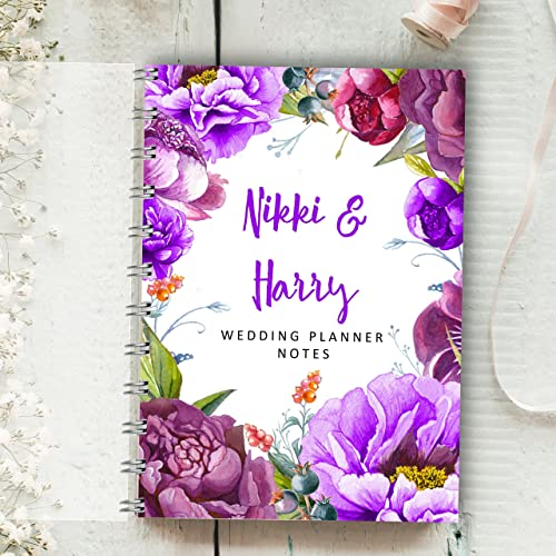 Personalised wedding planner purple flowers 4 year diary bride to personalised wedding planner purple flowers 4 year diary bride to be journal check mightylinksfo