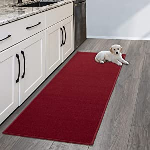 """Sweet Home Stores Rug, 20"""" x 59"""", Red"""
