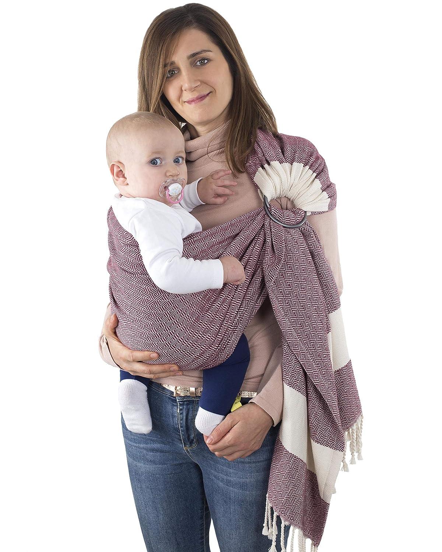 Violet Handwoven Ring Sling Baby Carrier Lightweight Sling for Newborn 100/% Cotton Extra Soft Eco-Friendly Sling Wrap Carrier Infant Best Baby Shower Gift Toddler Nursing Cover