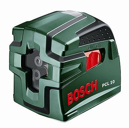 Bosch PCL10 - Nivel láser cruzado y autonivelante (10 m)