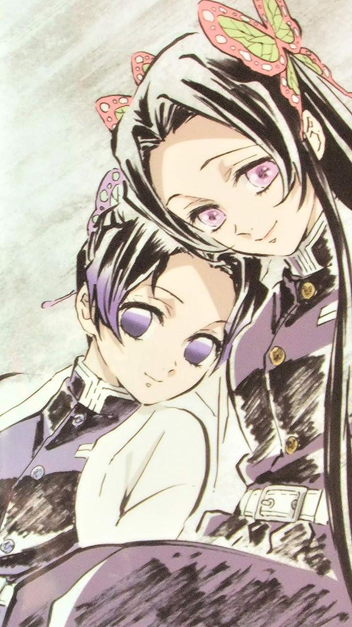 鬼滅の刃 胡蝶 しのぶ(こちょう しのぶ),胡蝶カナエ(こちょう かなえ) HD(720×1280)壁紙画像