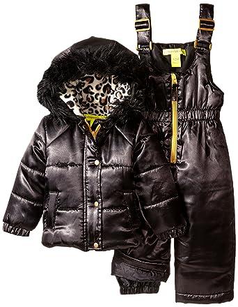 164ae97f359e Amazon.com  Catherine Malandrino Baby Girls  2 Piece Snowsuit Set ...