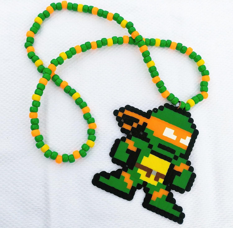 Amazon.com: Ninja Turtles Michelangelo Perler Kandi Necklace ...