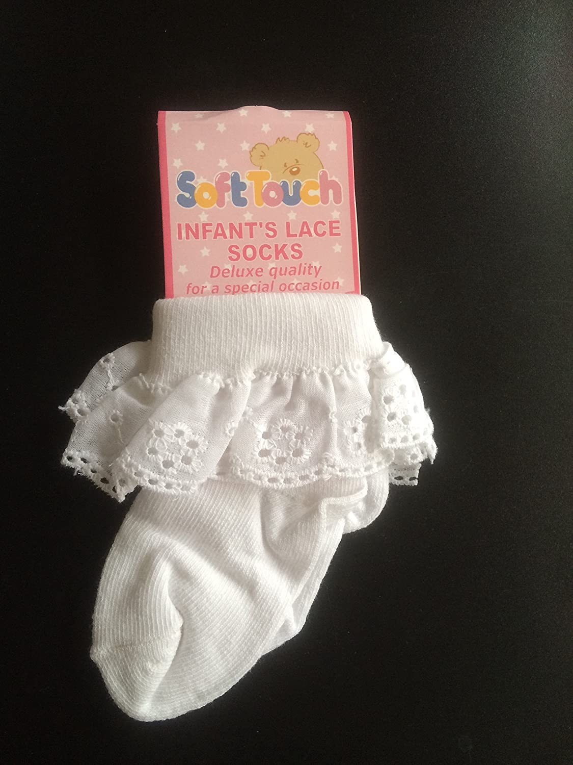 Baby Girl White Frilly Socks 0-3 Months Outfits & Sets
