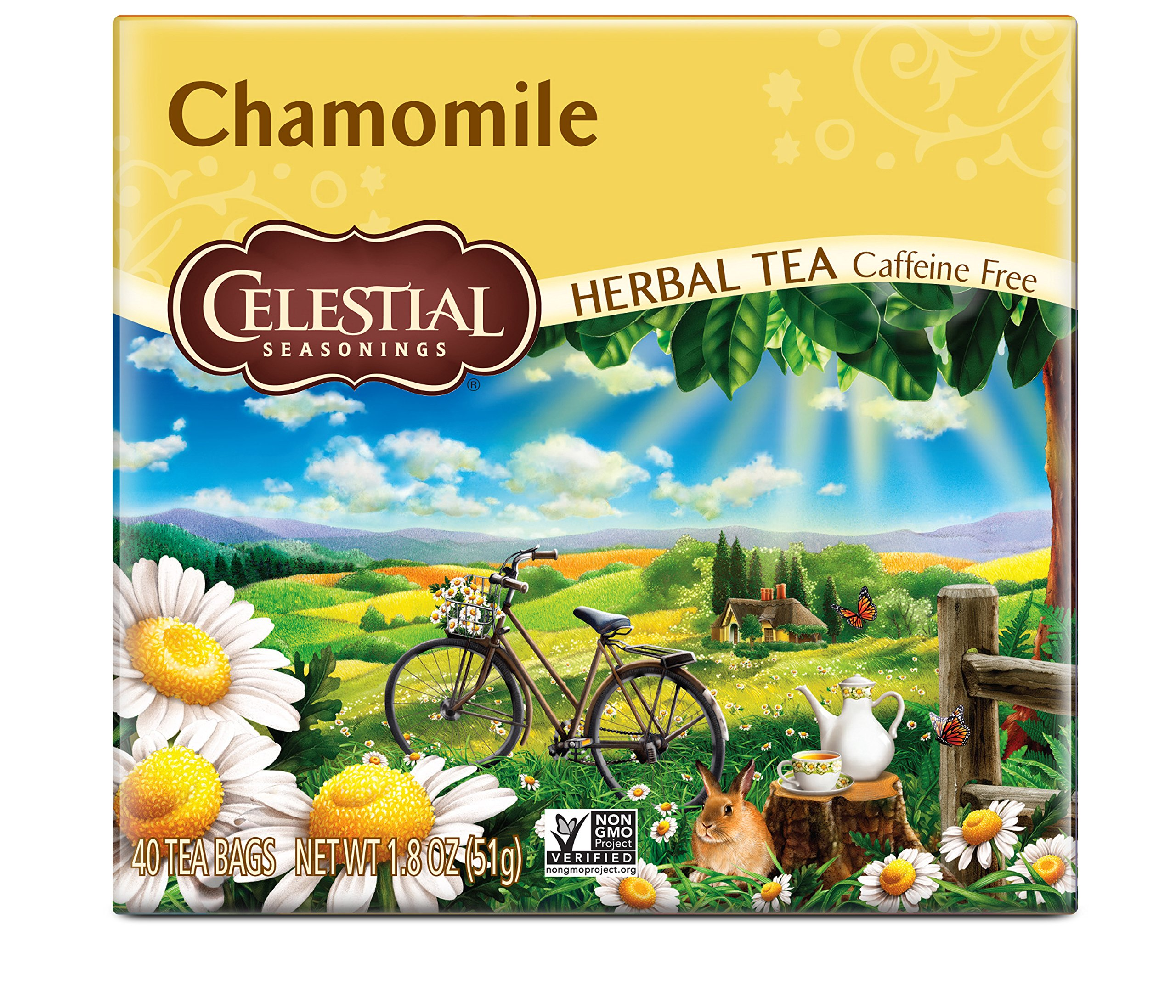Celestial Seasonings Herbal Tea, Chamomile, 40 Count (Pack of 6)