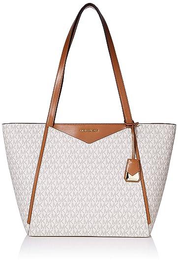 4a8eb056ed Michael Kors femme Tote Cabas Blanc (Vanilla): Amazon.fr: Chaussures ...