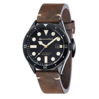 60b044aa6d6 Spinnaker Mens Analogue Classic Automatic Watch with Leather Strap SP-5033-02   Amazon.co.uk  Watches