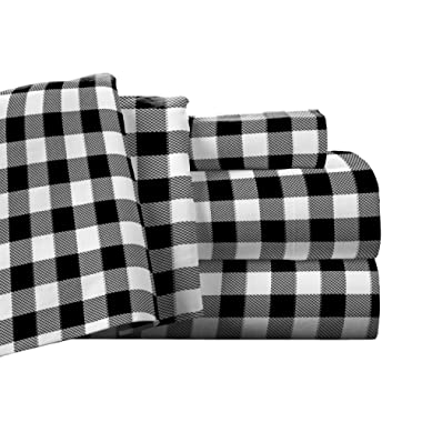 Pointehaven Flannel Deep Pocket Set with Oversized Flat Sheet, King, Milton