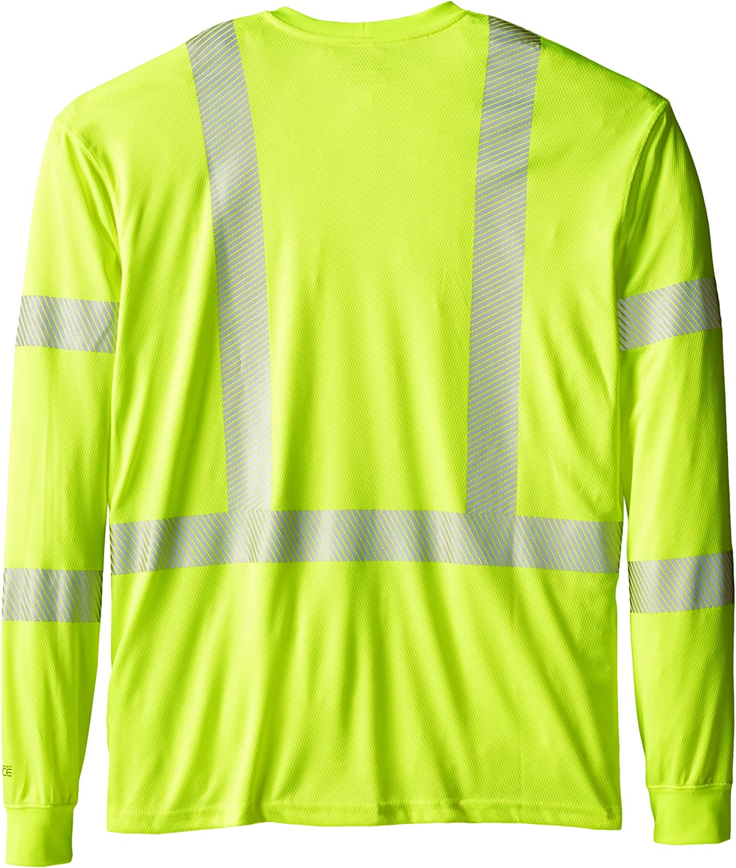 Carhartt Mens Big /& Tall High Vis Force High Visibility Long Sleeve Class 3 Tee
