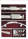 Rail de Rideaux Flexible PVC - Finition Blanc - Set Complet - Longueur 300 cm