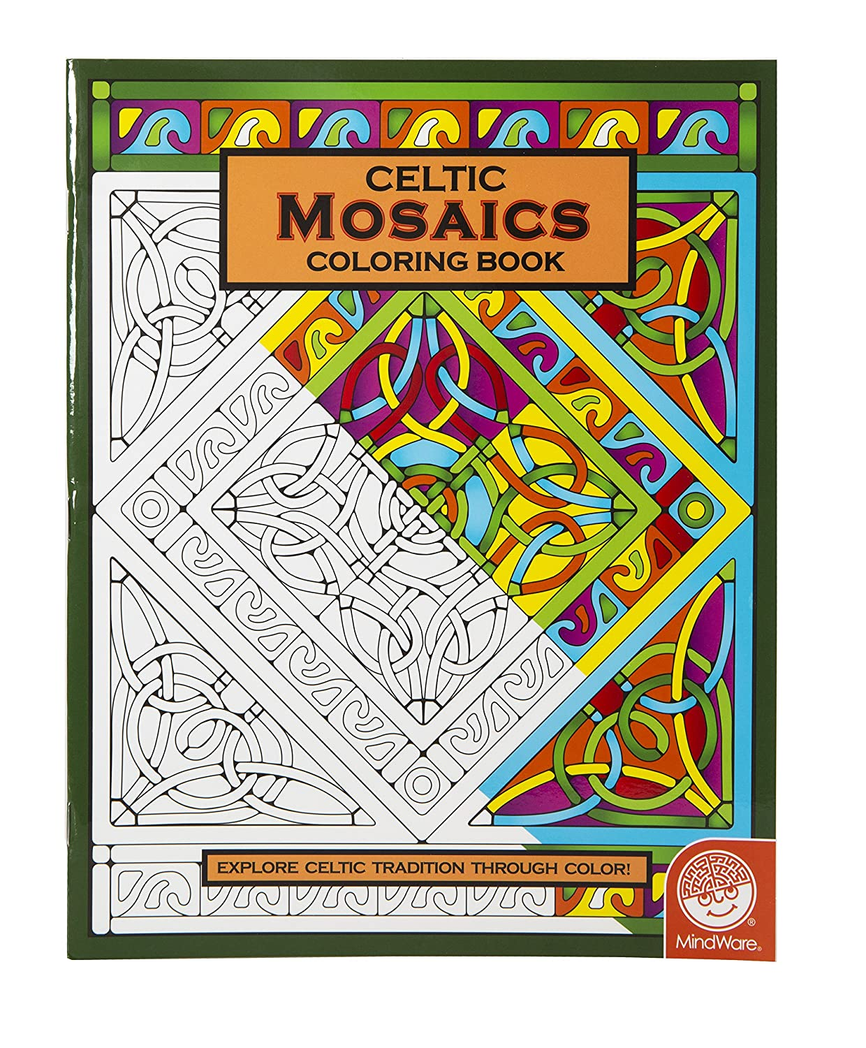 amazoncom mindware celtic mosaic coloring book 23 unique designs teaches creativity and fosters imagination toys games - Mosaic Coloring Book