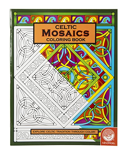 Amazon.com: MindWare – Celtic Mosaic Coloring Book – 23 Unique ...