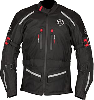 German Wear GW302J - Chaqueta de moto, negro/gris claro, S: Amazon ...