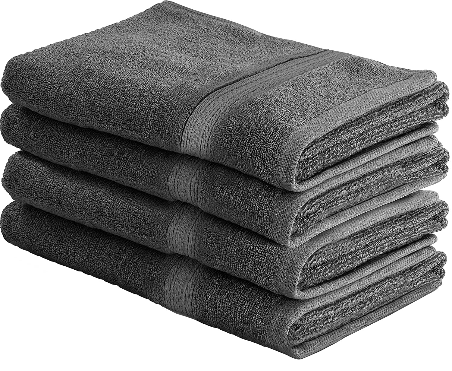 utopia towels 700 gsm cotton 16 inch by 28 inch hand towel set set of 4 grey - Red And Black Print Bath Towels