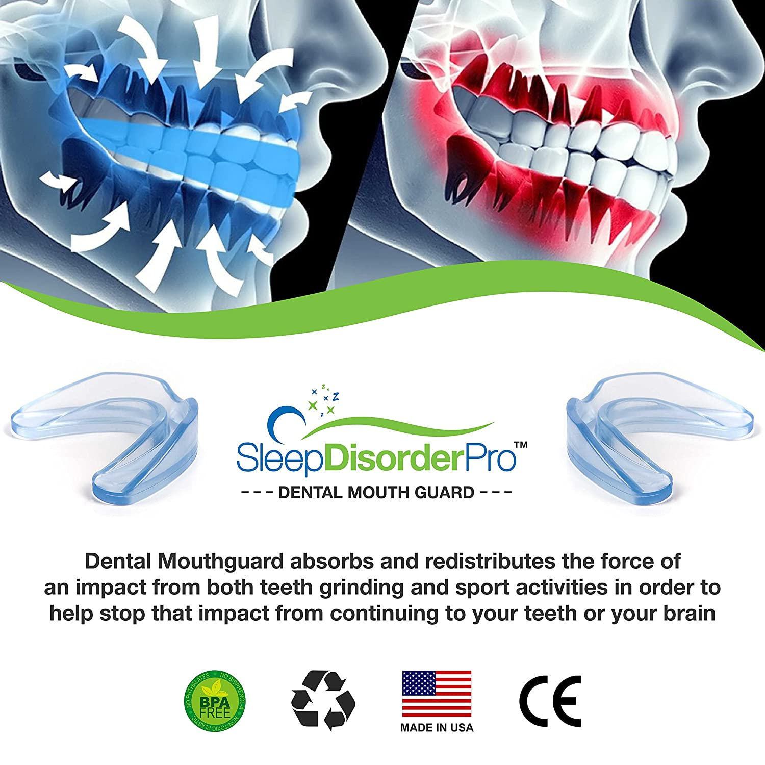 Sleep Disorder Pro Mouth Guards- Pack Of 2- Professional Dental ...