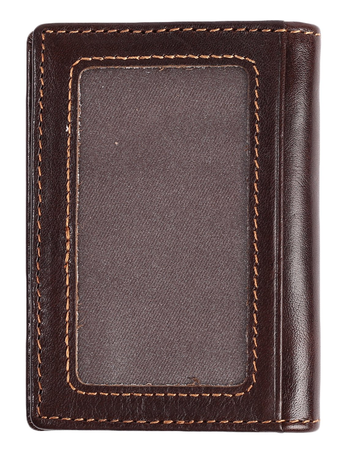 RFID Slim Wallet Men Thin Bifold Front Pocket Wallet Genuine Leather Card Holder (Coffee) by Easyoulife (Image #3)
