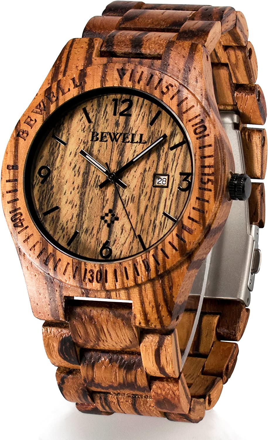 Image result for Bewell W086B Men's Wooden Watch