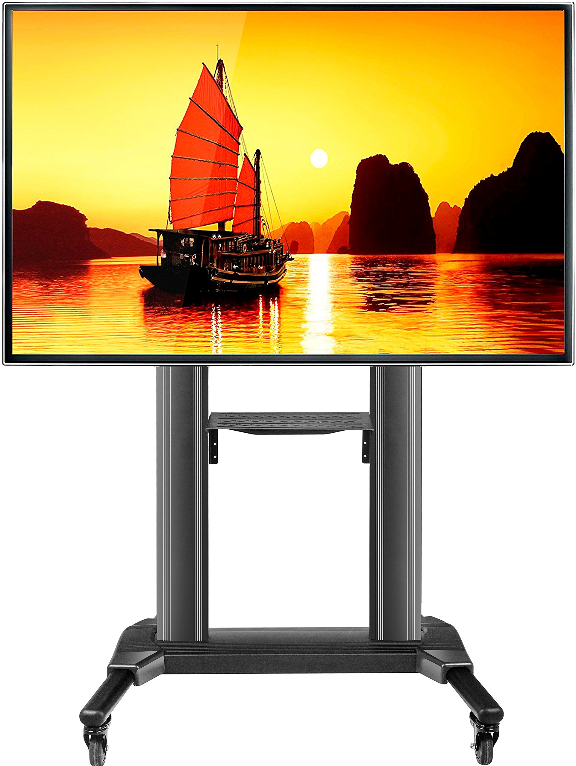 ONKRON Universal Mobile TV cart TV Stand for 40 to 75-Inch Flat Panel TVs up to 100 lbs (TS27-71)