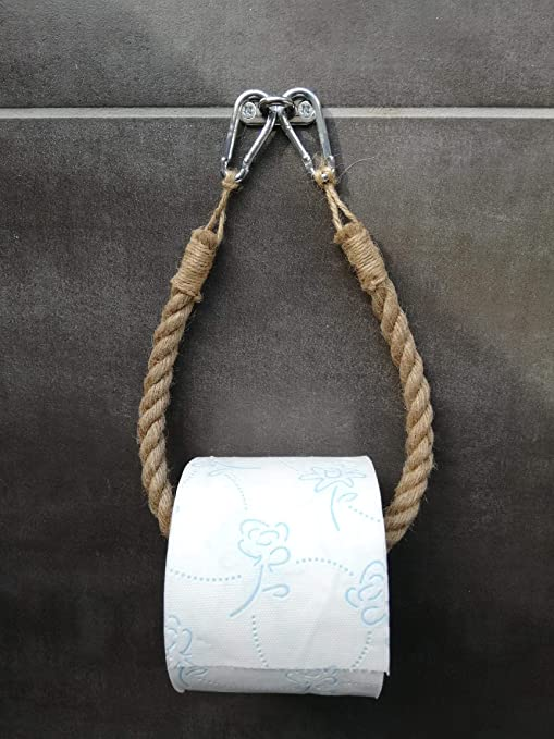 Porta Carta Igienica Fai Da Te.Solenzo Portarotolo Carta Igienica Vintage Porta Asciugamani Corda Industriale