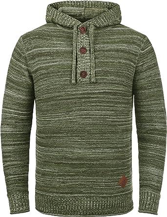 Solid Melker Jersey De Punto Suéter Sudadera para Hombre con Capucha De 100% Algodón: Amazon.es: Ropa y accesorios