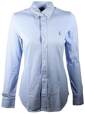 Polo Ralph Lauren Women s Knit Oxford Shirt at Amazon Women s ... f29f0ff2e58b